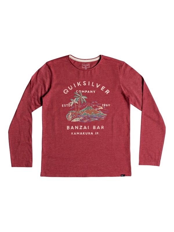0 Banzai Bar - Camiseta de manga larga para Chicos 8-16 Rojo EQBZT03806 Quiksilver