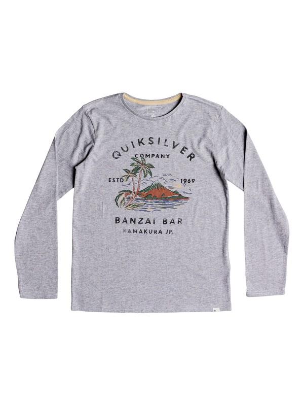 0 Banzai Bar - Camiseta de manga larga para Chicos 8-16 Gris EQBZT03806 Quiksilver