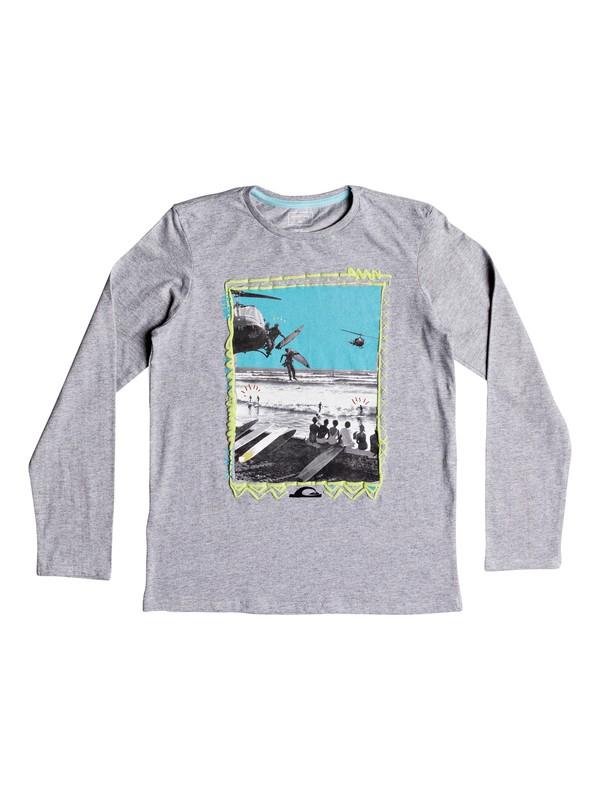 0 D- Day - Camiseta de manga larga para Chicos 8-16 Gris EQBZT03807 Quiksilver