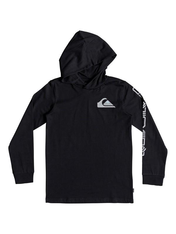 0 Boy's 8-16 Vice Versa Long Sleeve Hooded Tee Black EQBZT03870 Quiksilver