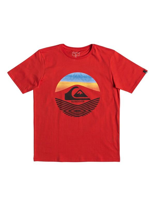 0 Детская футболка Stomped On Красный EQBZT03895 Quiksilver