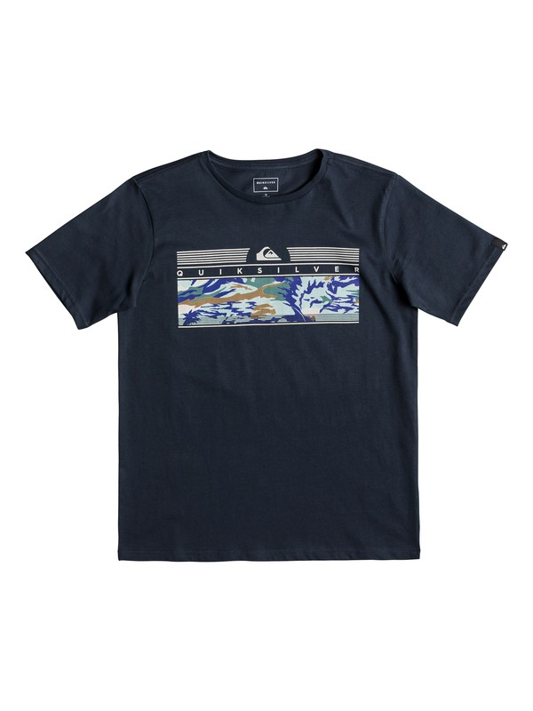 0 Детская футболка The Jungle Синий EQBZT03896 Quiksilver
