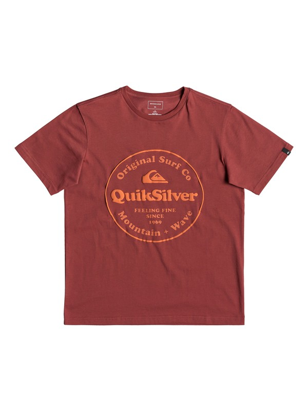 0 Secret Ingredient - T-shirt pour garçon 8-16 ans Rouge EQBZT03911 Quiksilver