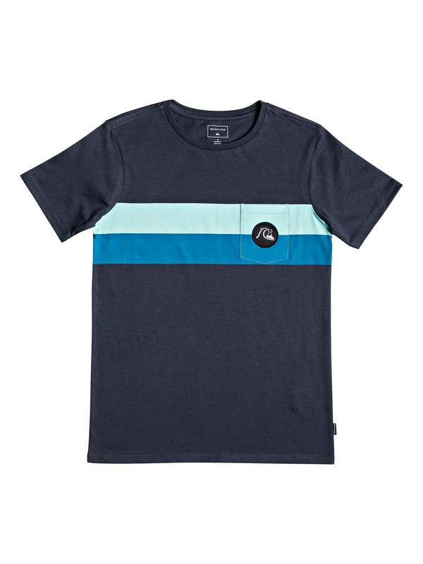 0 Season Stripe - Pocket T-Shirt for Boys 8-16 Blue EQBZT03918 Quiksilver