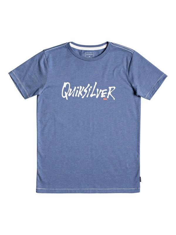 0 Scriptural - T-Shirt for Boys 8-16 Blue EQBZT03926 Quiksilver
