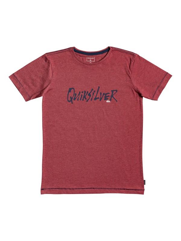 0 Scriptural - T-shirt pour garçon 8-16 ans Rouge EQBZT03926 Quiksilver