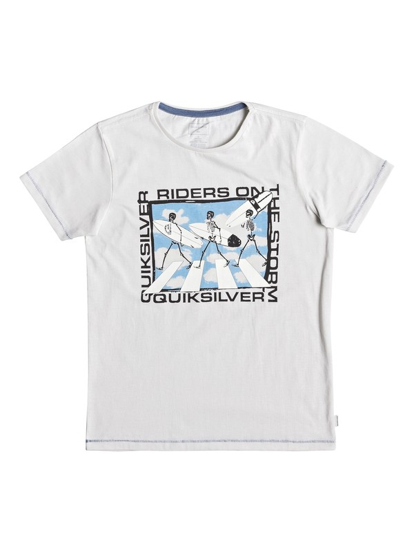 0 Stormy Rider - T-Shirt for Boys 8-16 White EQBZT03928 Quiksilver