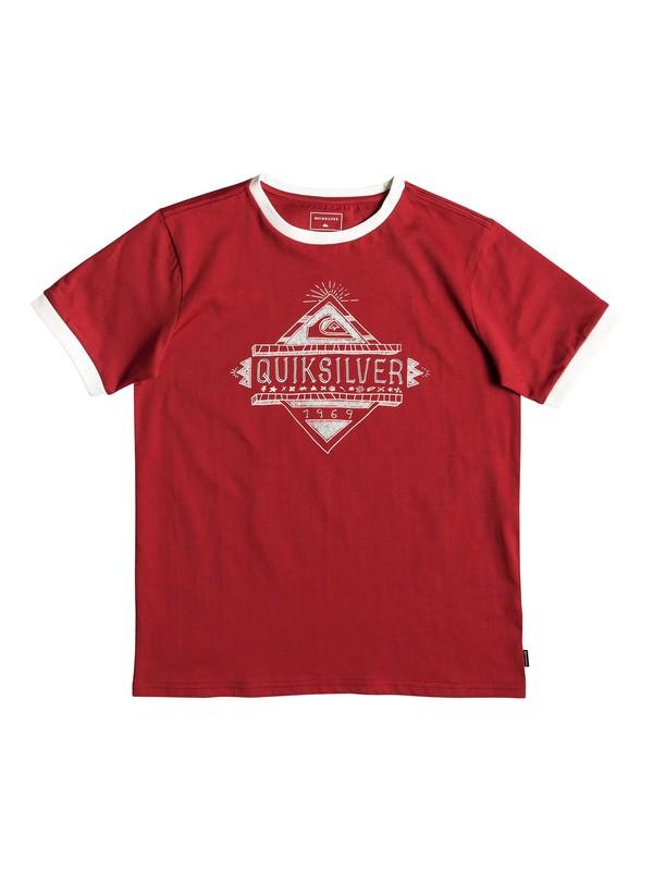 0 Kuzco Script - T-Shirt for Boys 8-16 Red EQBZT03930 Quiksilver