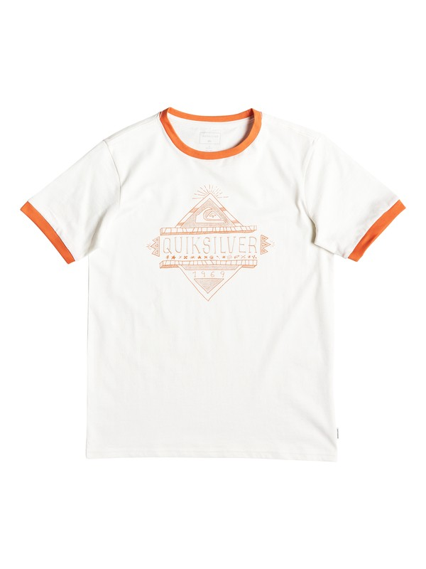 0 Kuzco Script - T-Shirt for Boys 8-16 White EQBZT03930 Quiksilver