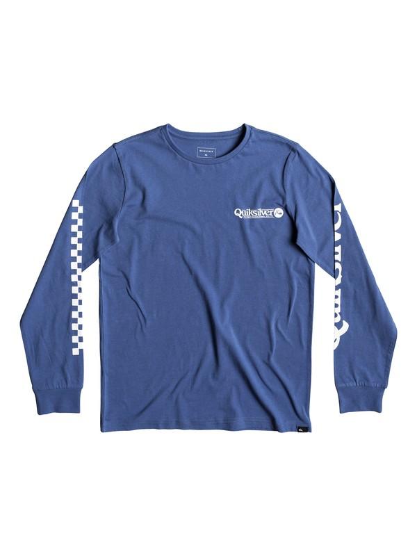 0 Check It - T-shirt manches longues pour garçon 8-16 ans Bleu EQBZT03935 Quiksilver