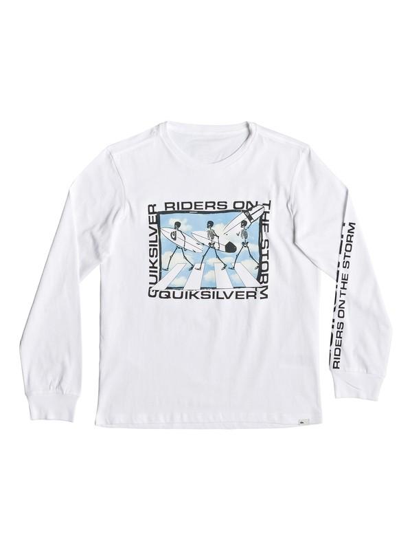 0 Stormy Riders - T-shirt manches longues pour garçon 8-16 ans Blanc EQBZT03938 Quiksilver