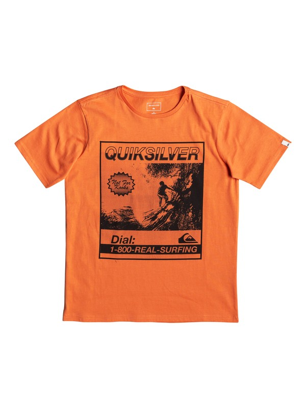0 Temple Of The Dog - T-Shirt for Boys 8-16 Orange EQBZT03939 Quiksilver