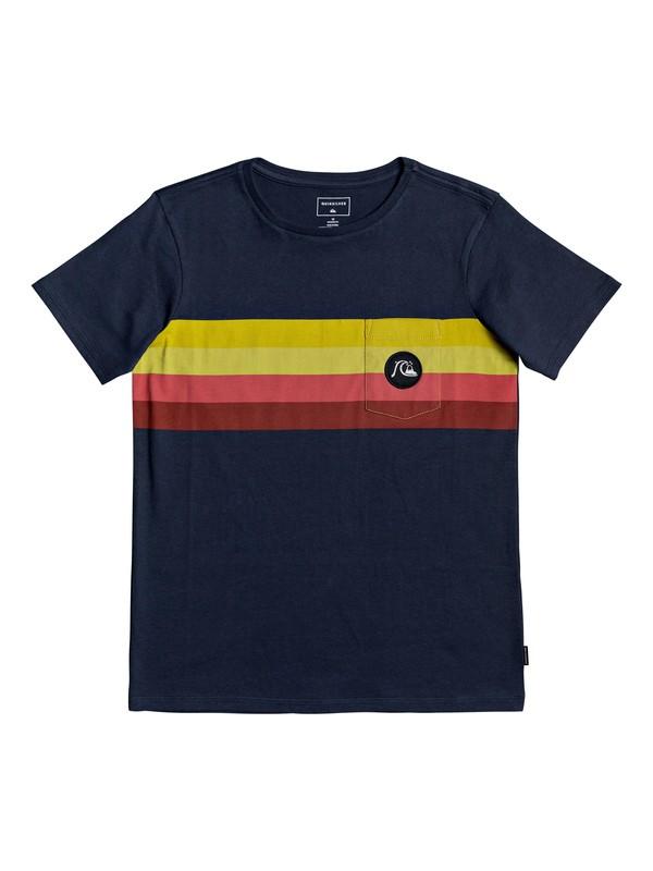 0 Boy's 8-16 Seasons Stripe Tee Blue EQBZT04121 Quiksilver