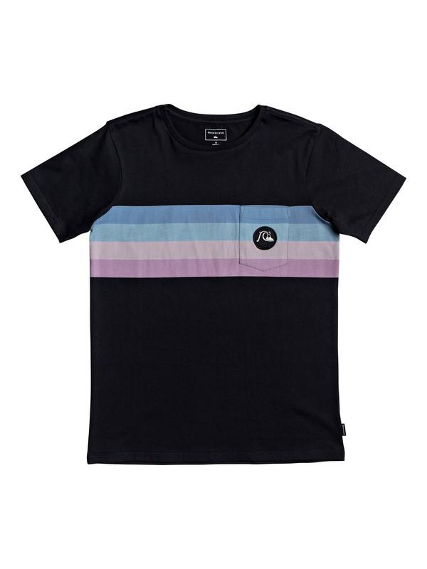 0 Boy's 8-16 Seasons Stripe Tee Black EQBZT04121 Quiksilver