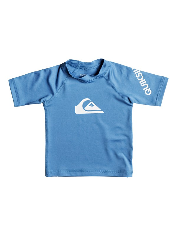 0 All Time - Short Sleeve UPF 50 Rash Vest for Baby Boys Blue EQIWR03010 Quiksilver