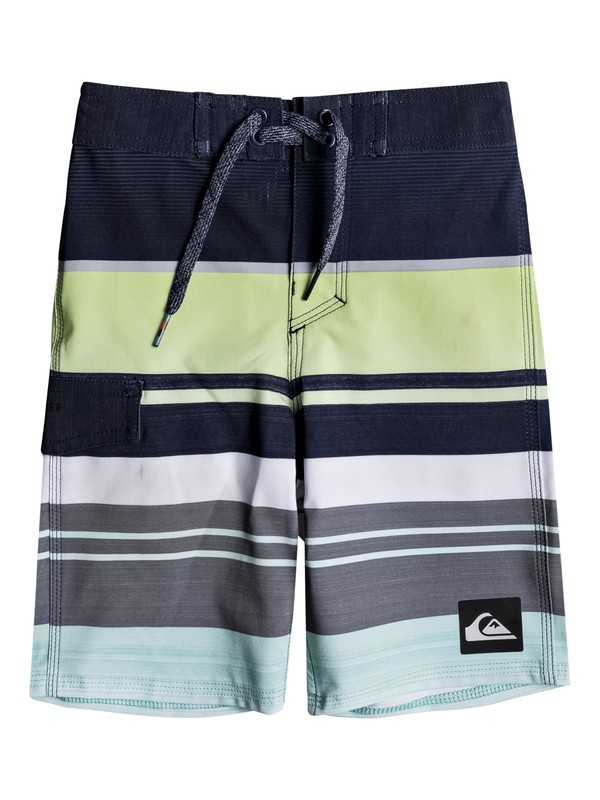 "0 Boy's 2-7 Everyday Stripe 14"" Boardshorts Blue EQKBS03136 Quiksilver"