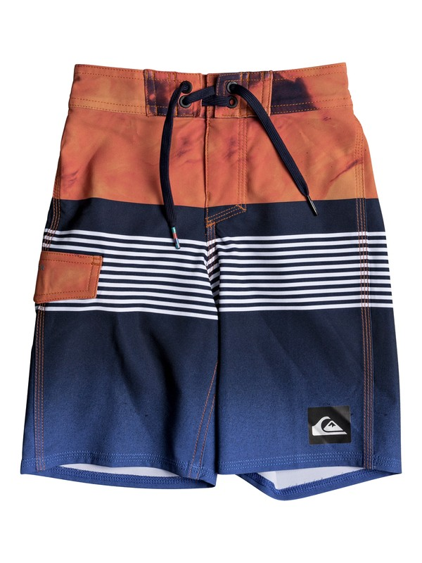 "0 Boy's 2-7 Highline Lava Division 14"" Boardshorts  EQKBS03149 Quiksilver"