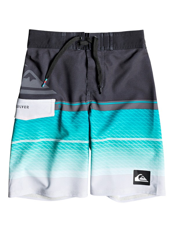 "0 Boy's 2-7 Highline Slab 14"" Boardshorts Blue EQKBS03152 Quiksilver"