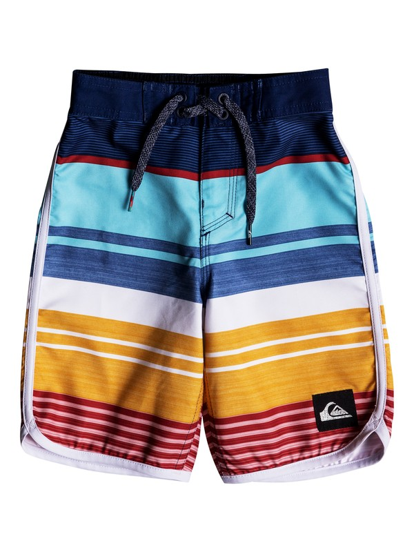 "0 Boy's 2-7 Eye Scallop 14"" Boardshorts Blue EQKBS03174 Quiksilver"
