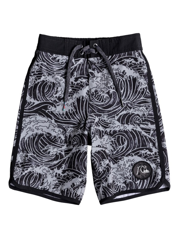 "0 Boy's 2-7 Highline Legend 14"" Boardshorts Black EQKBS03187 Quiksilver"