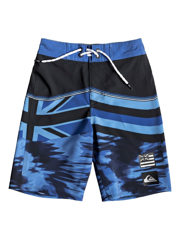"0 Boy's 2-7 Highline Hawaii Serious 14"" Boardshorts Purple EQKBS03199 Quiksilver"