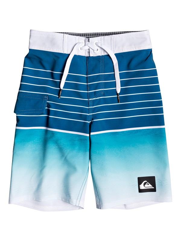 "0 Boy's 2-7 Highline Slab 14"" Boardshorts Blue EQKBS03200 Quiksilver"