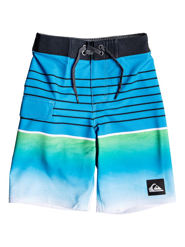 "0 Boy's 2-7 Highline Slab 14"" Boardshorts Blue EQKBS03200 Quiksilver"
