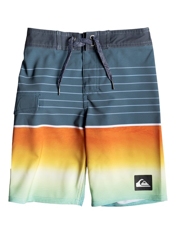 "0 Boy's 2-7 Highline Slab 14"" Boardshorts Black EQKBS03200 Quiksilver"