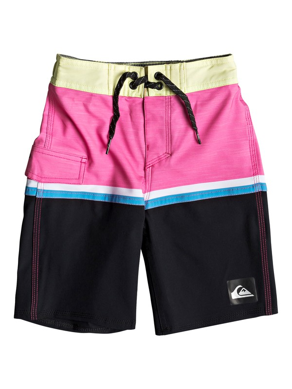"0 Boy's 2-7 Highline Division 14"" Boardshorts Yellow EQKBS03203 Quiksilver"