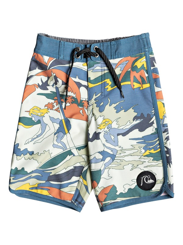 "0 Boy's 2-7 Highline Feelin Fine 14"" Boardshorts Blue EQKBS03204 Quiksilver"