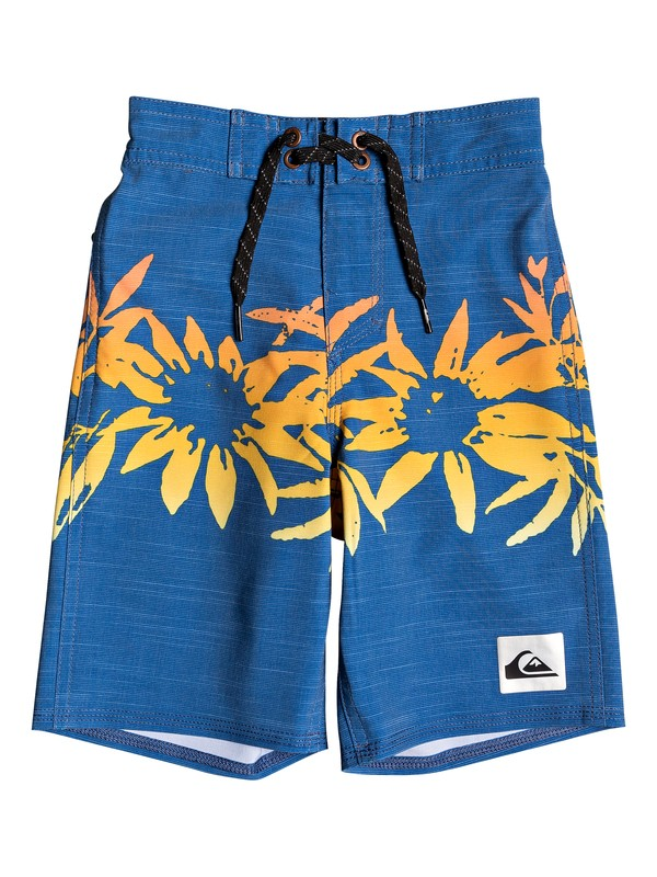 "0 Boy's 2-7 Highline Choppa 14"" Boardshorts Blue EQKBS03221 Quiksilver"