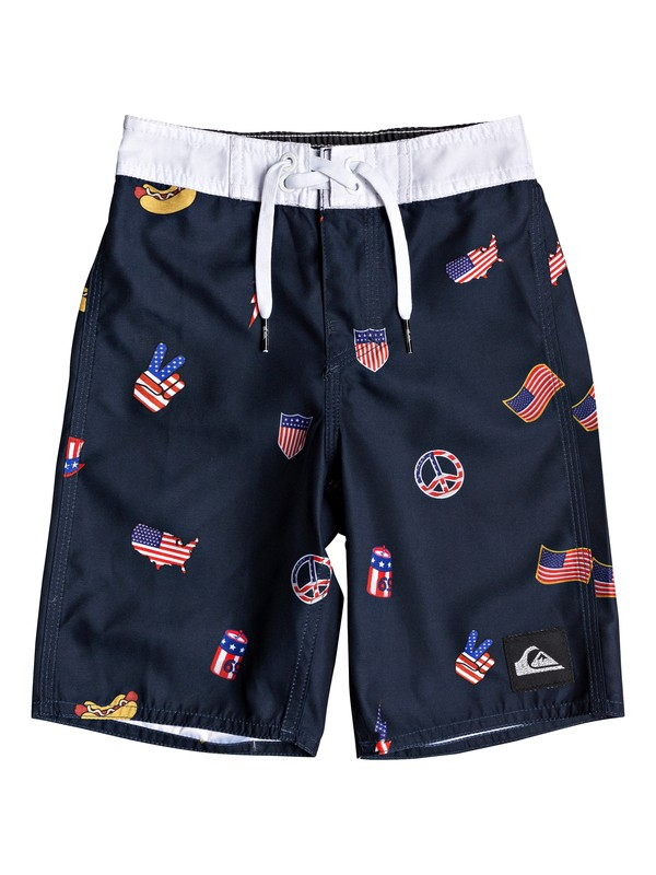 "0 Boy's 2-7 Everyday Hot Dog 14"" Boardshorts Blue EQKBS03226 Quiksilver"