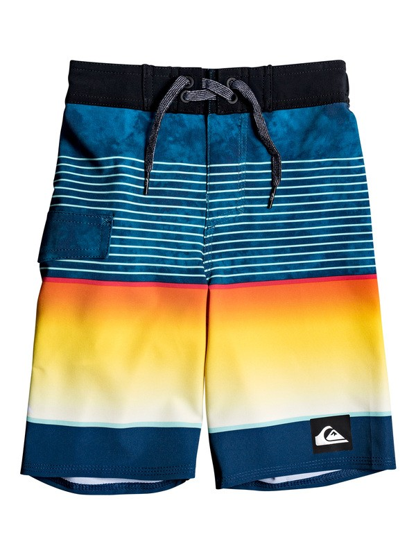 "0 Boy's 2-7 Highline Slab 14"" Boardshorts Blue EQKBS03233 Quiksilver"