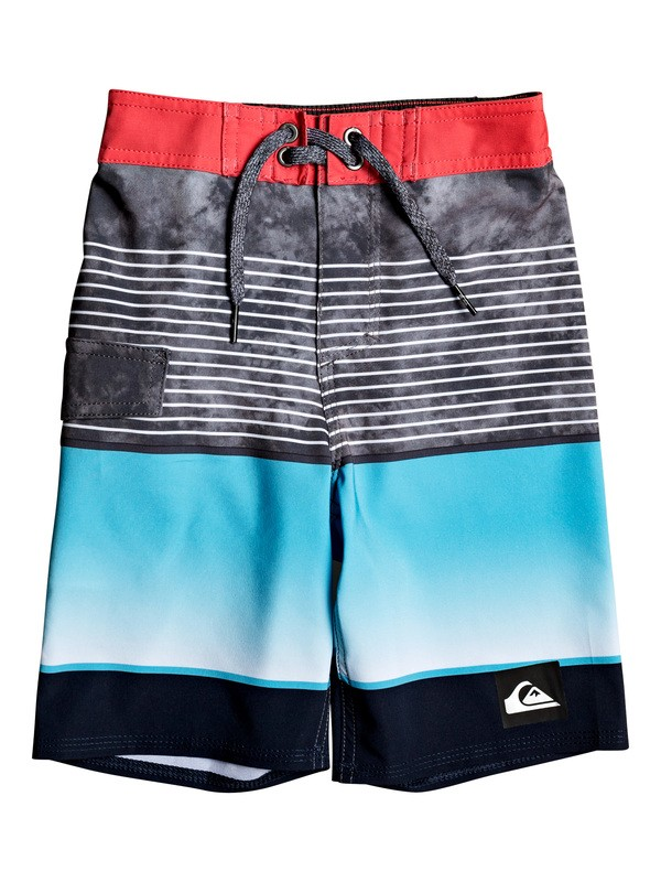 "0 Boy's 2-7 Highline Slab 14"" Boardshorts Red EQKBS03233 Quiksilver"