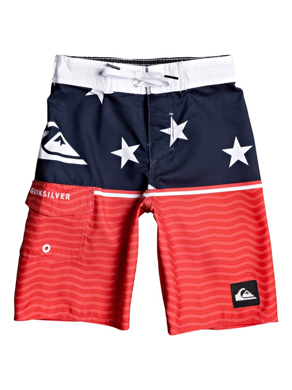 "0 Boy's 2-7 Everyday Division 14"" Boardshorts Red EQKBS03245 Quiksilver"