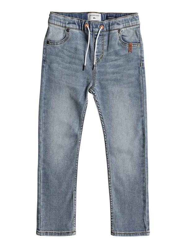 0 Spikas - Slim Fit Trousers for Boys 2-7 Blue EQKDP03070 Quiksilver