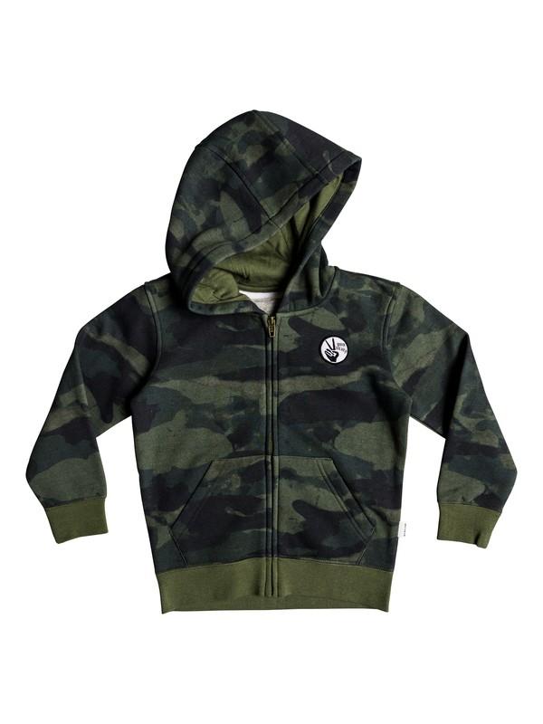 0 Toko Bear - Sweat à capuche zippé pour Garçon 2-7 ans Vert EQKFT03255 Quiksilver