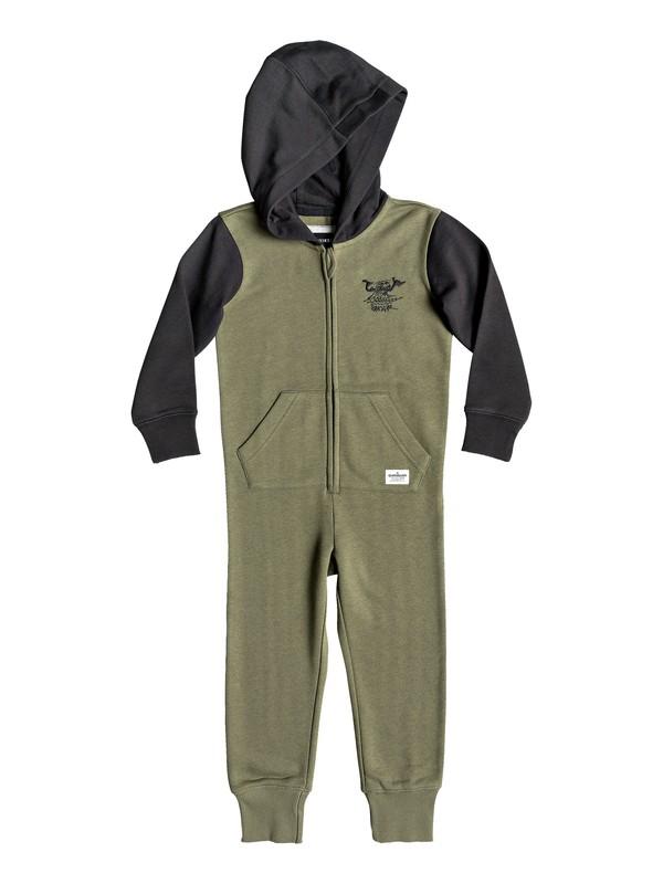 0 Minoo - Combinaison zippée à capuche pour Garçon 2-7 ans Vert EQKFT03257 Quiksilver