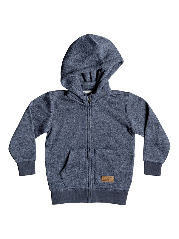 0 Boy's 2-7 Keller Zip-Up Hooded Fleece Blue EQKFT03258 Quiksilver