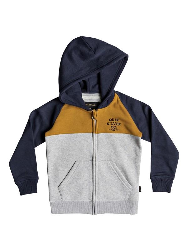 0 Sun Melt - Sudadera con capucha y cremallera para Chicos 2-7 Naranja EQKFT03259 Quiksilver