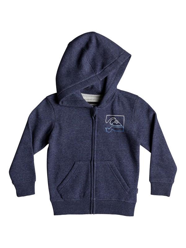 0 Boy's 2-7 Diamond Zip Hoodie Blue EQKFT03269 Quiksilver