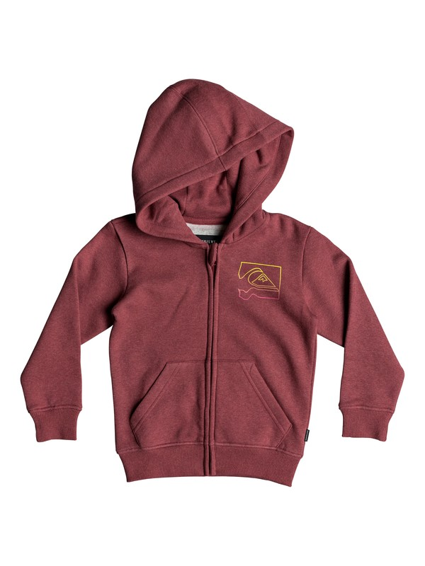 0 Boy's 2-7 Diamond Zip Hoodie Red EQKFT03269 Quiksilver