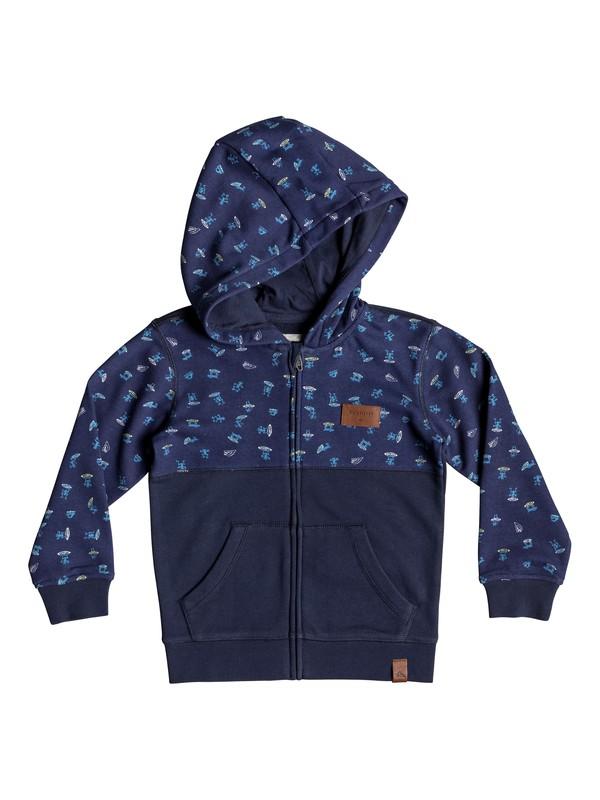 0 Big 2 Do - Zip-Up Hoodie for Boys 2-7 Blue EQKFT03276 Quiksilver