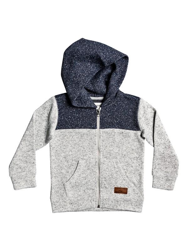 0 Boy's 2-7 Keller Block Zip-Up Fleece Lined Hoodie Grey EQKFT03286 Quiksilver