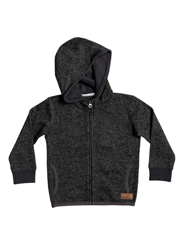 0 Boy's 2-7 Keller Hooded Zip-Up Fleece Black EQKFT03306 Quiksilver