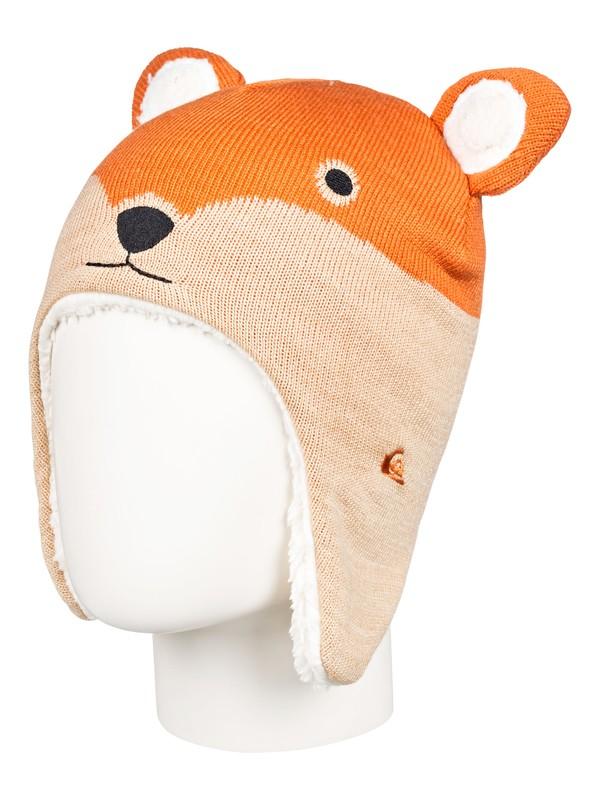 0 Little Fox - Gorro con Orejeras de Animal para Chicos 2-7 Naranja EQKHA03025 Quiksilver