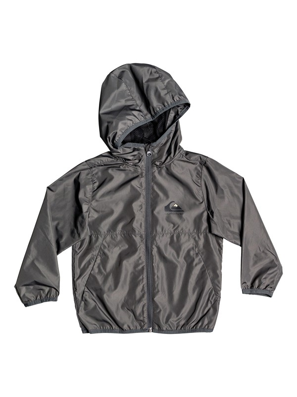 0 Boy's 2-7 Everyday Hooded Windbreaker Black EQKJK03098 Quiksilver
