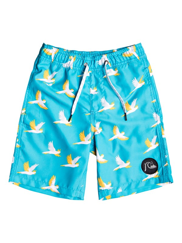 "0 Boy's 2-7 Cockatoo 14"" Swim Shorts Blue EQKJV03081 Quiksilver"