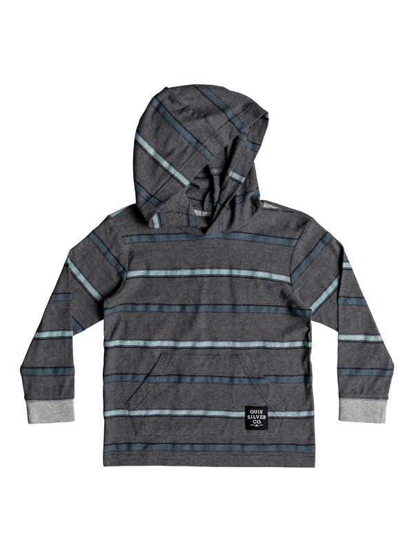 0 Boy's 2-7 Ginza Hooded Long Sleeve Top Grey EQKKT03143 Quiksilver