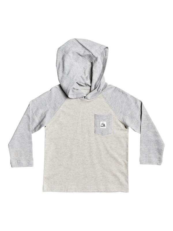 0 Boys 2-7 Michi Long Sleeve Hooded Top Grey EQKKT03179 Quiksilver